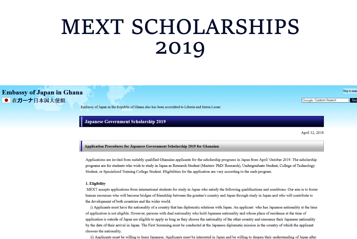 Japanese Government Scholarship 2019 | T-Action Global